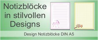 Design Notizblock A5