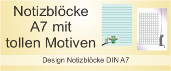 Design Notizblock A7
